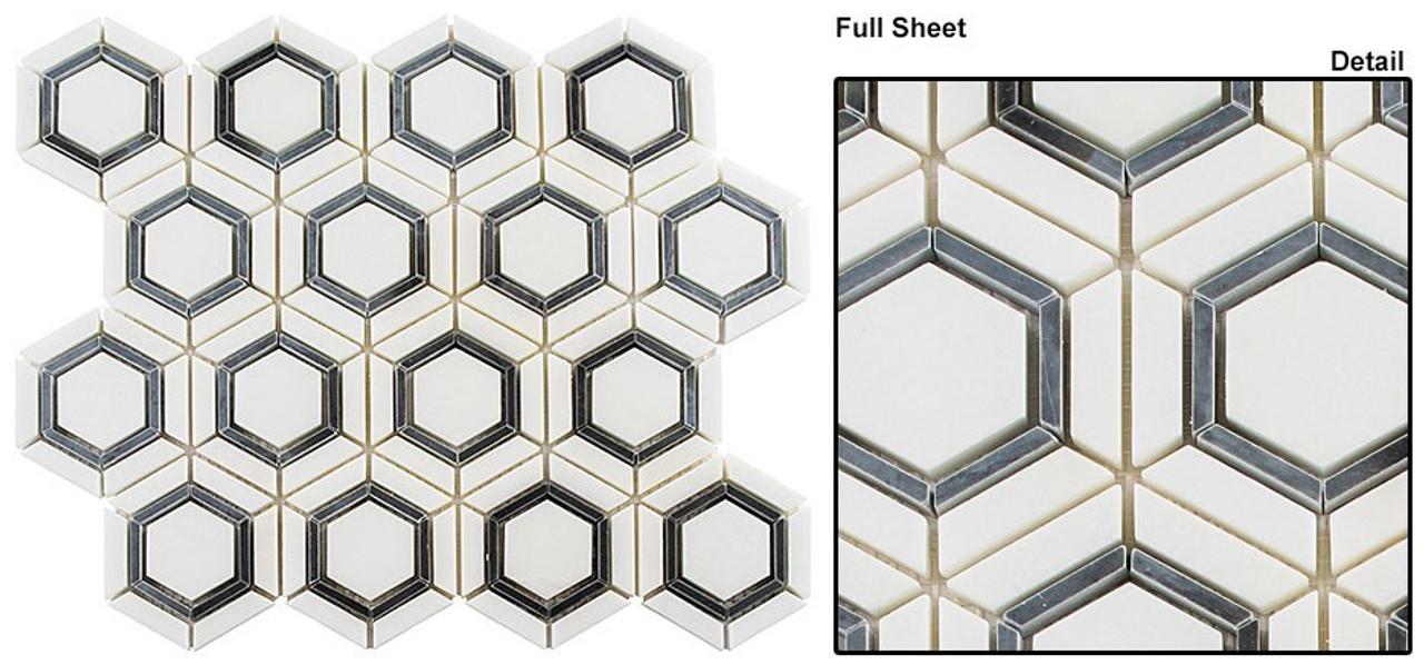 Bella Glass Tiles Sky Light White Celesta Stone Mosaic