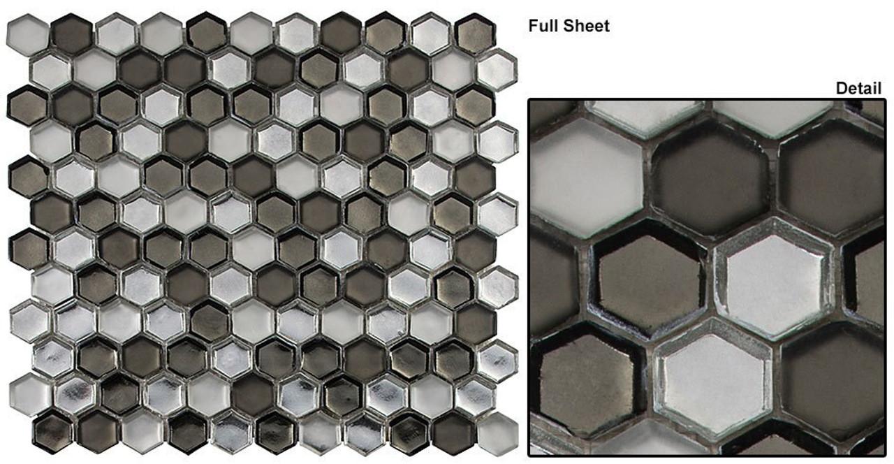Bella Glass Tiles Mountain Retreat Cloud Formation Glass Mosaic