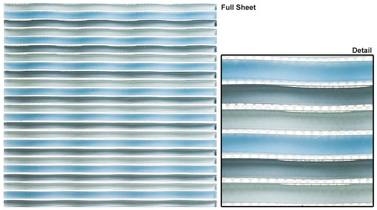 Bella Glass Tiles Rolling Surf Night Swim Glass Mosaic Tile