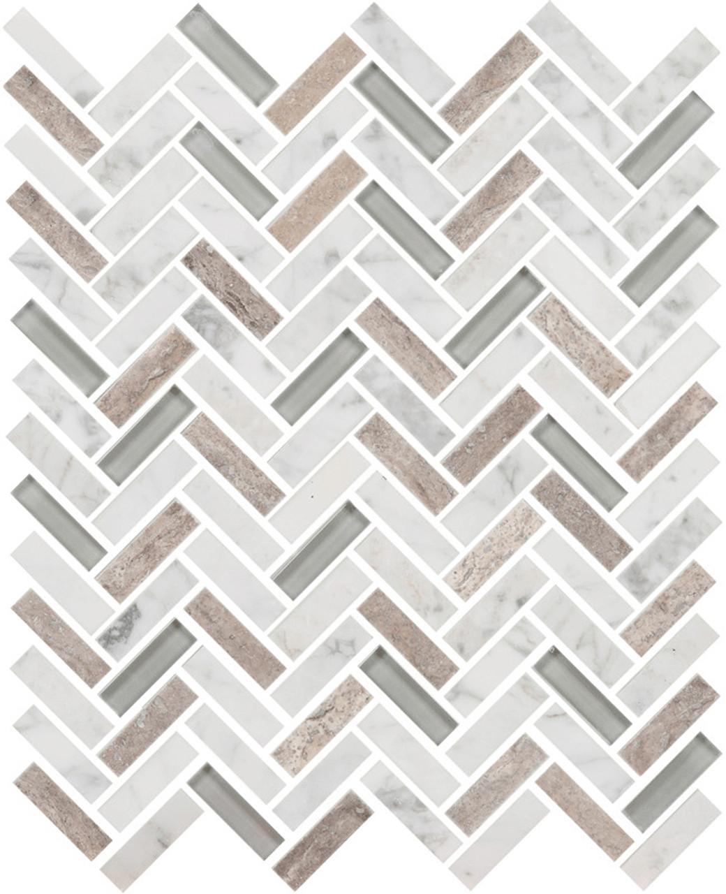 UBC Imagination Collection Whitetail Herringbone Tiles