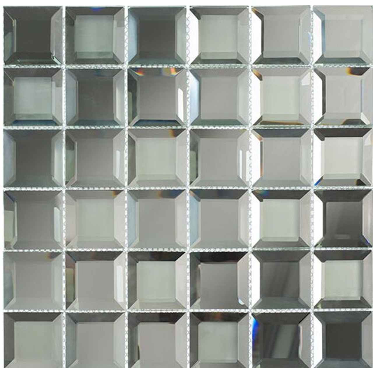 Bella Glass Tiles Checkers Spanish Pearl CKR114