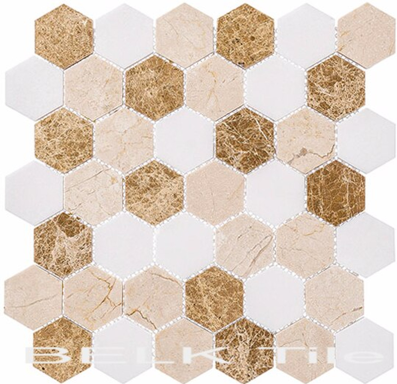 Bella Glass Tiles Colonial 2 Inch Hex Providence Pier