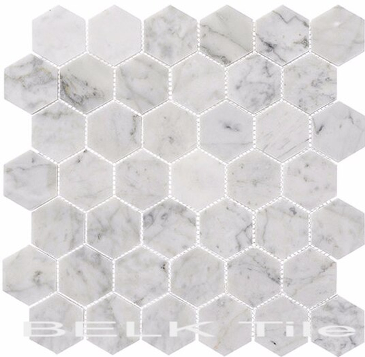 Bella Glass Tiles Colonial 2 Inch Hex Captains Manor