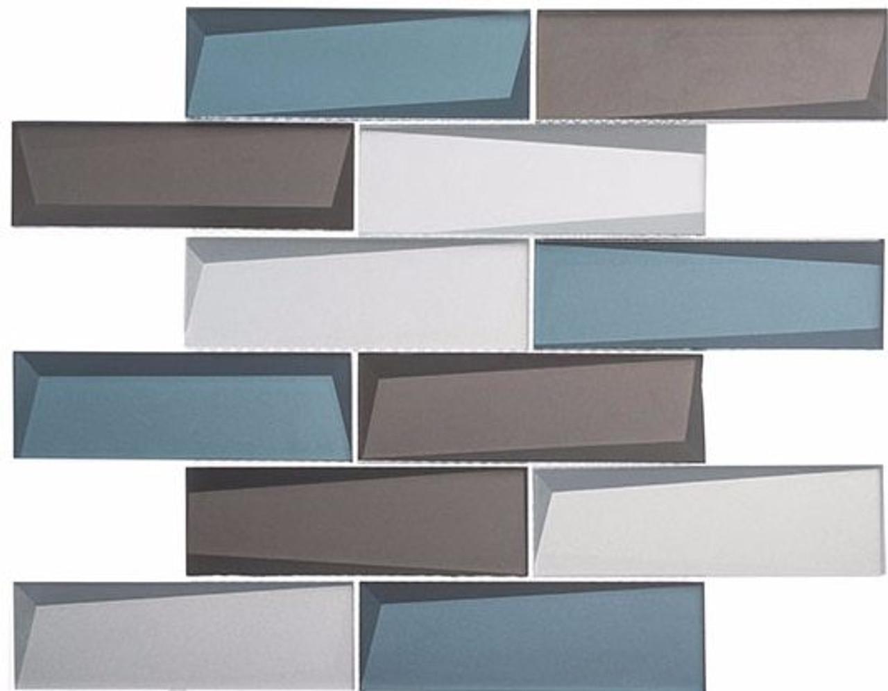 Bella Glass Tiles Scandinavia Northern Lights Subway Tile