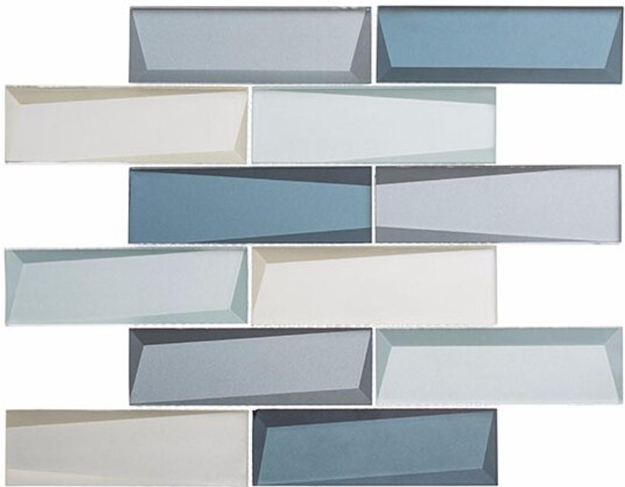 Bella Glass Tiles Scandinavia Viking Sky Subway Tile