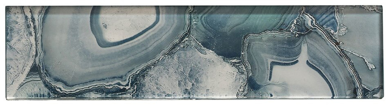 Bella Glass Tiles Magical Forest Periwinkle Dust Subway Tile