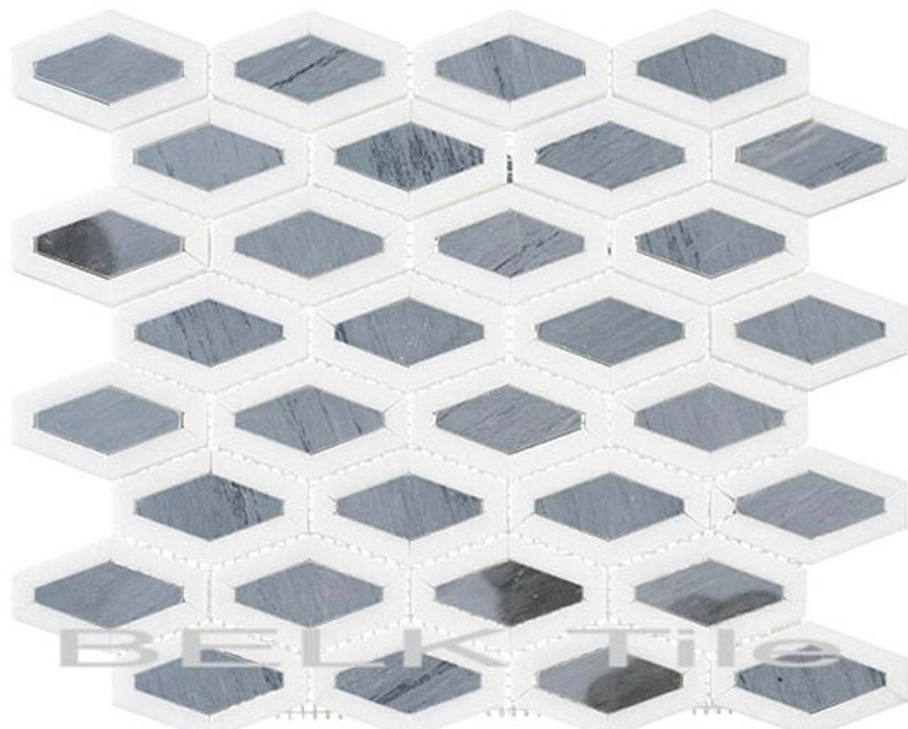Bella Glass Tiles Garden Party Series Lunar Ice