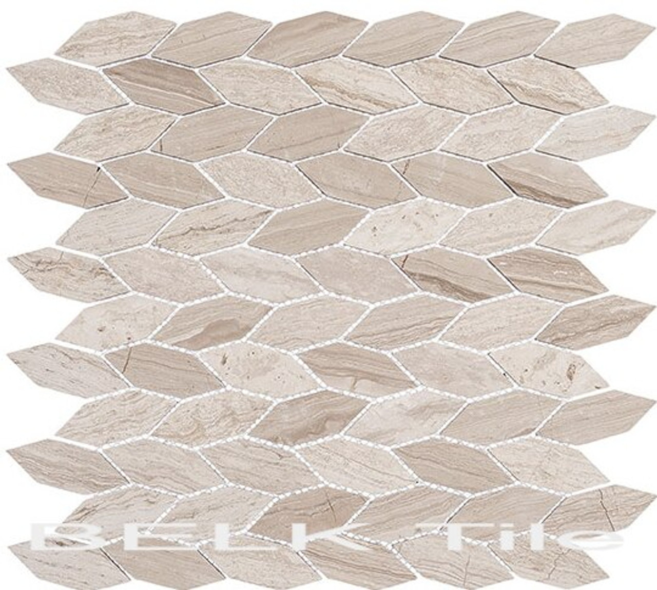 Bella Glass Tiles Colonial Series Long Hex Virginia Dunes