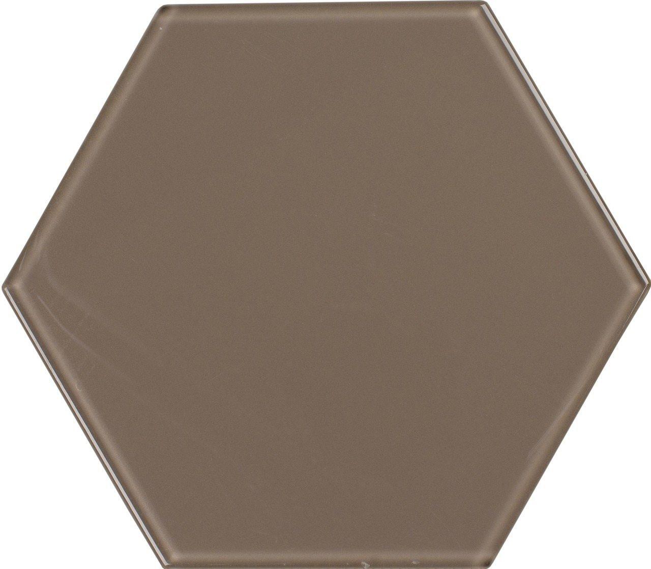 UBC 8 inch Glass Hexagon Tile Gravel