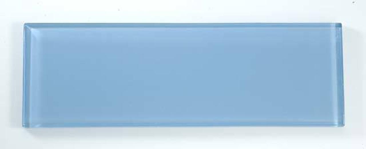 Bella Glass Tiles Bella Glass Tiles C09 4 x 12 Subway Blue Seafoam