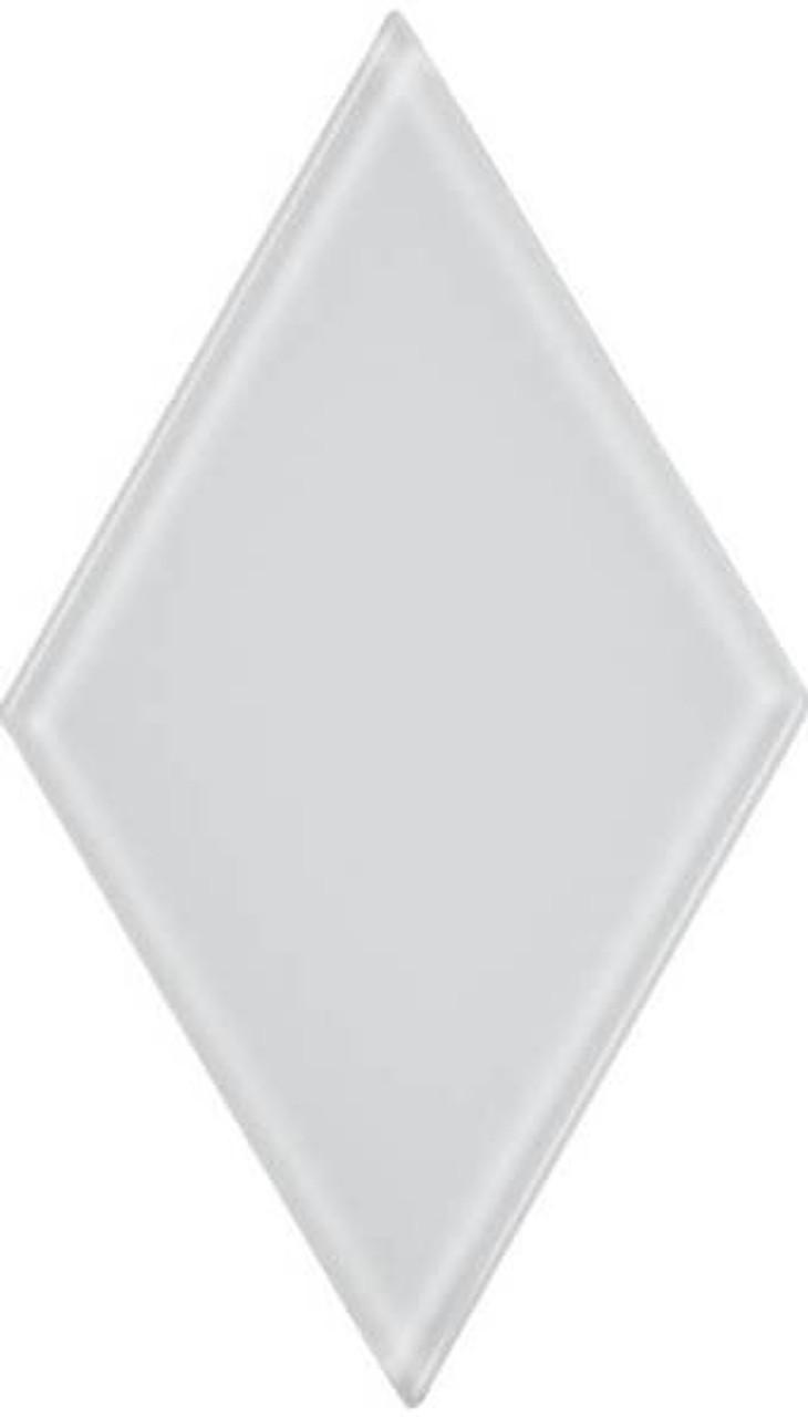 UBC 4.5 inch Glass Diamond Tile White