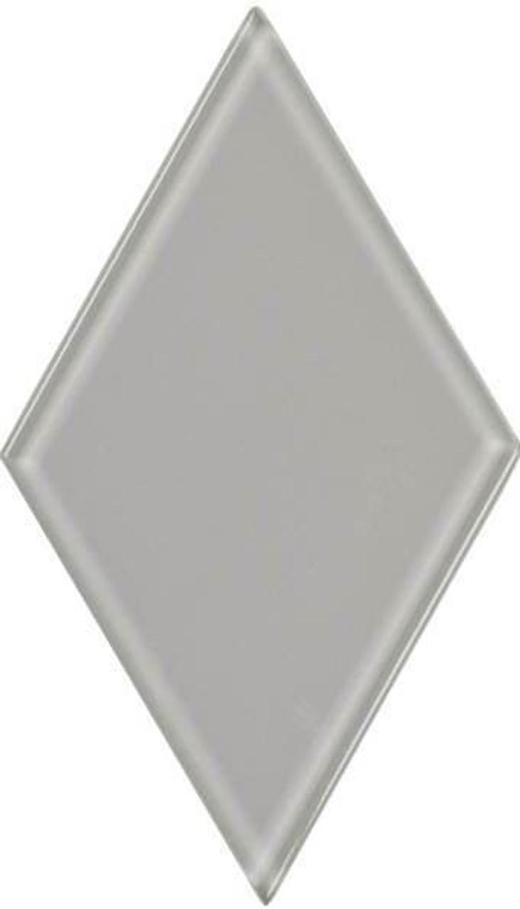 UBC 4.5 inch Glass Diamond Tile Whisper Gray