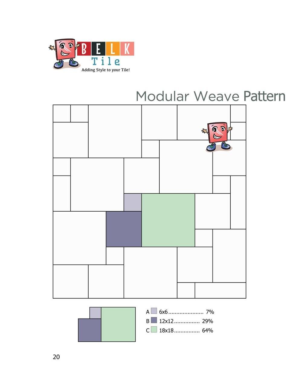 BELK Tile Patterns Modular Weave Floor Tile Pattern