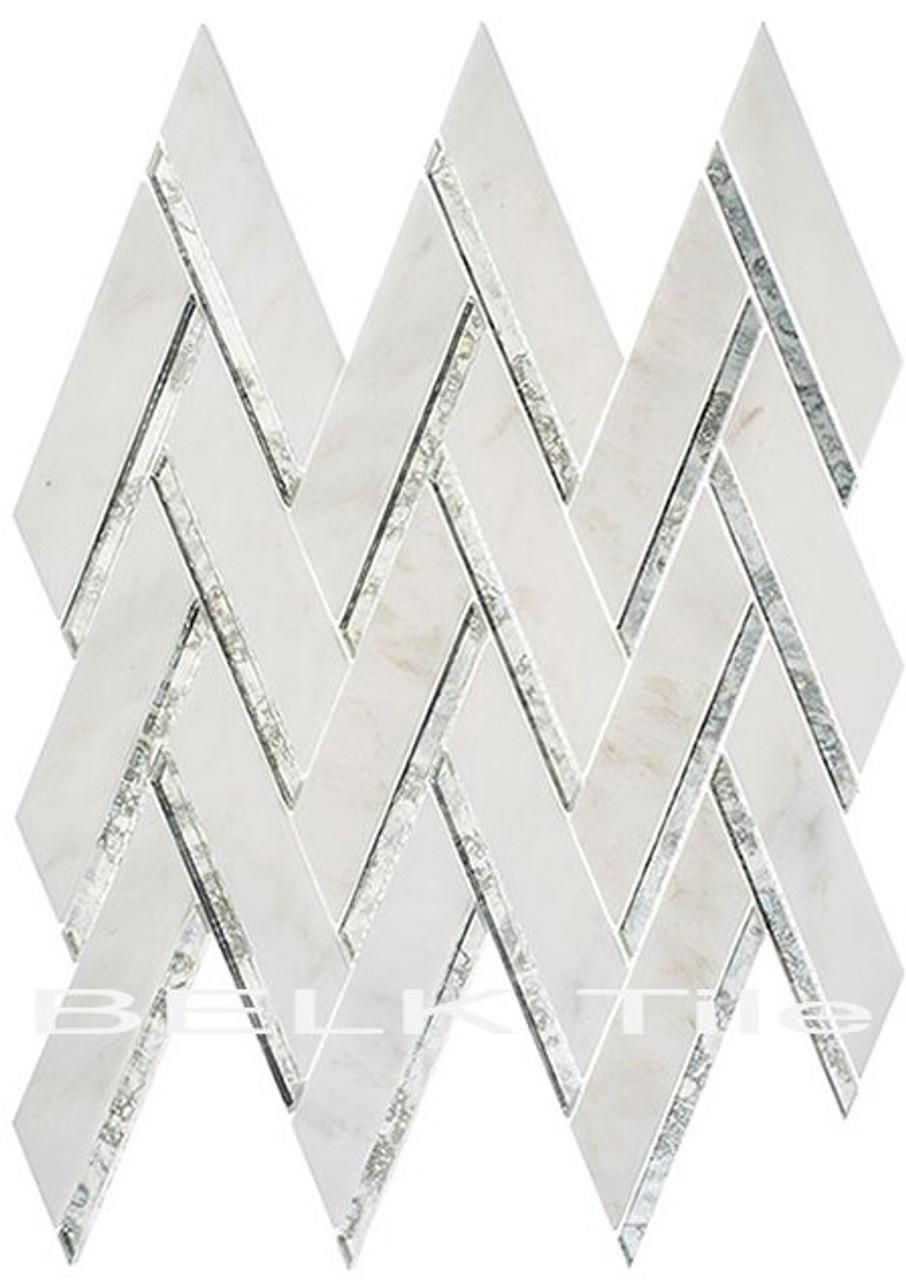 Bella Glass Tiles Peaks Harbor Ornate Crest PH-481