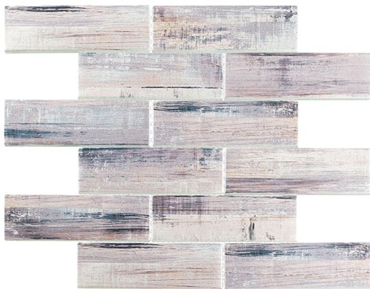 Bella Glass Tiles Painted Forest Walnut Field Glass Tile PTF-986