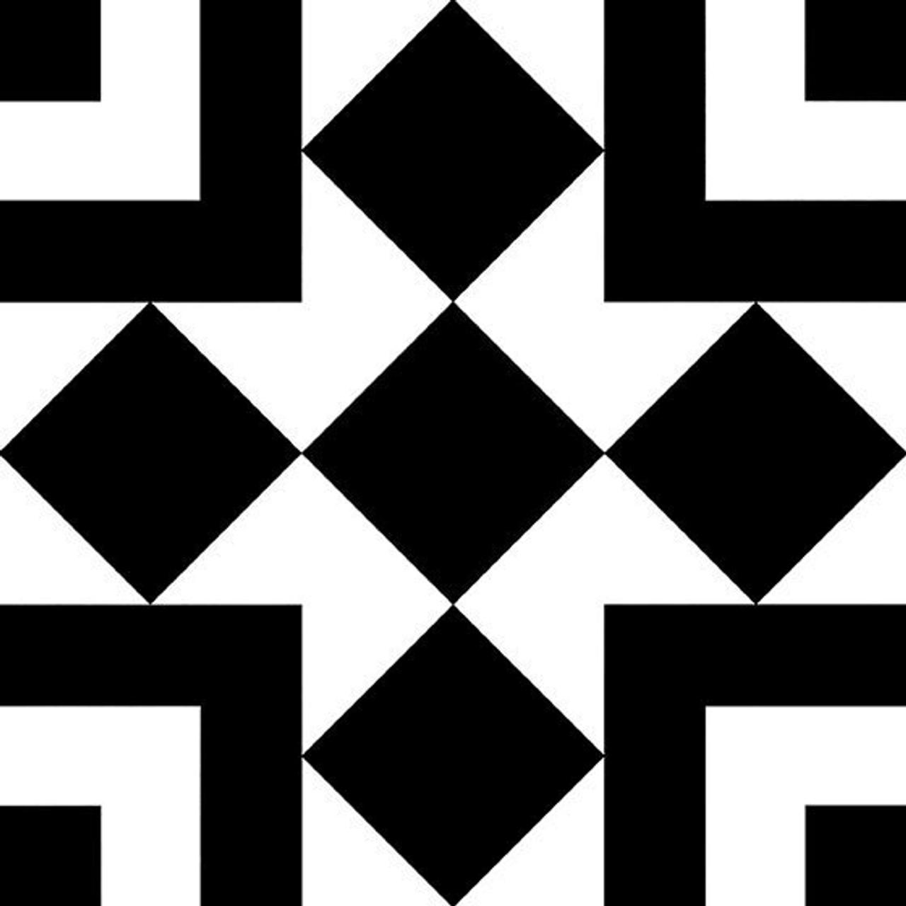 Bella Glass Tiles Retro Nueve Checkers Block Encaustic Look