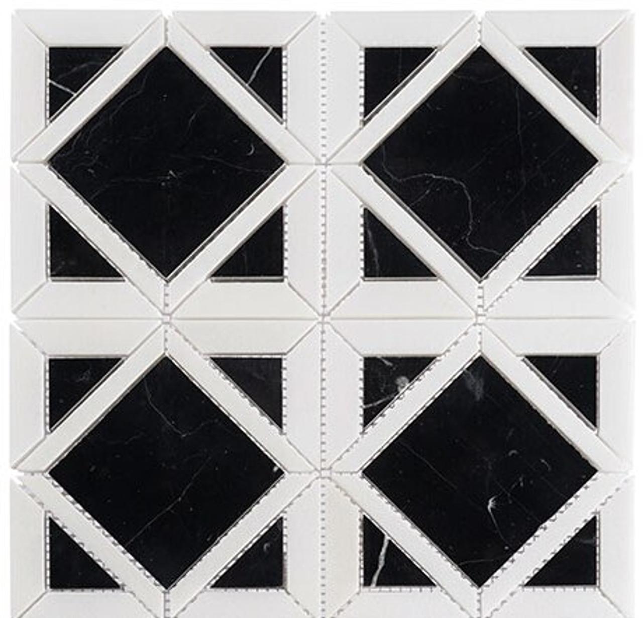 Bella Glass Tiles Wright Windows Series WRW-105 Onyx Night