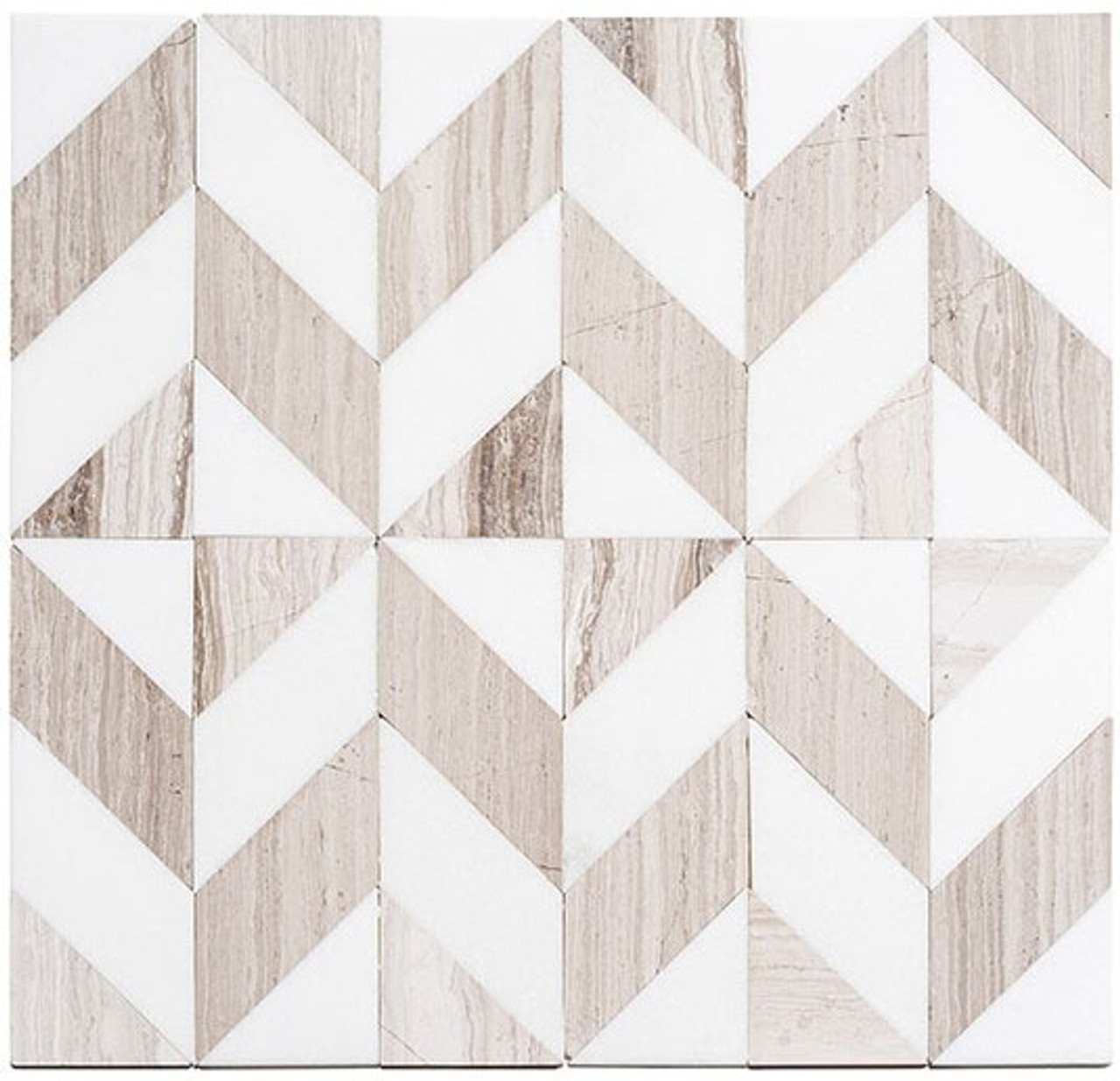 Bella Glass Tiles Picassa Paloma Taupe marble mosaic tile