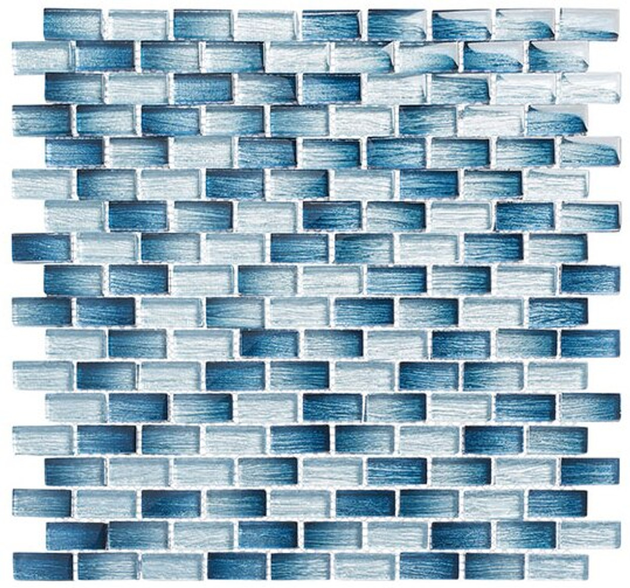 Bella Glass Tiles Metro Series MTR-3341 Antoinette Blue