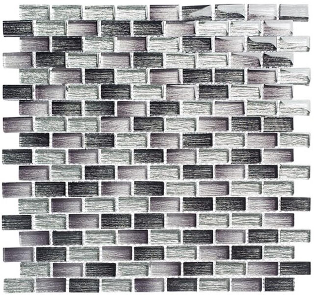 Bella Glass Tiles Metro Series MTR-3342 Lucas Midnight