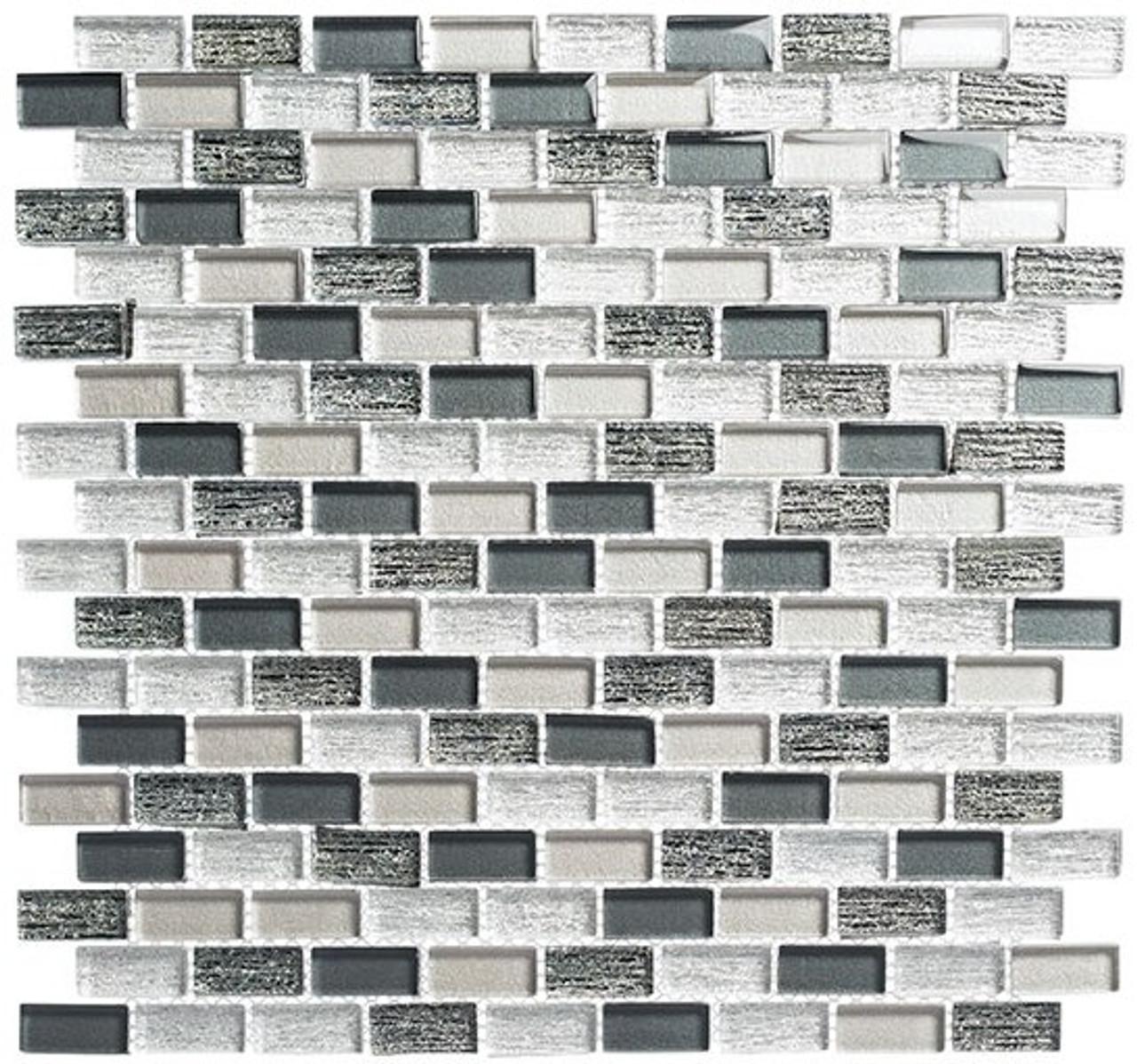 Bella Glass Tiles Metro Series MTR-3343 Jules Charcoal