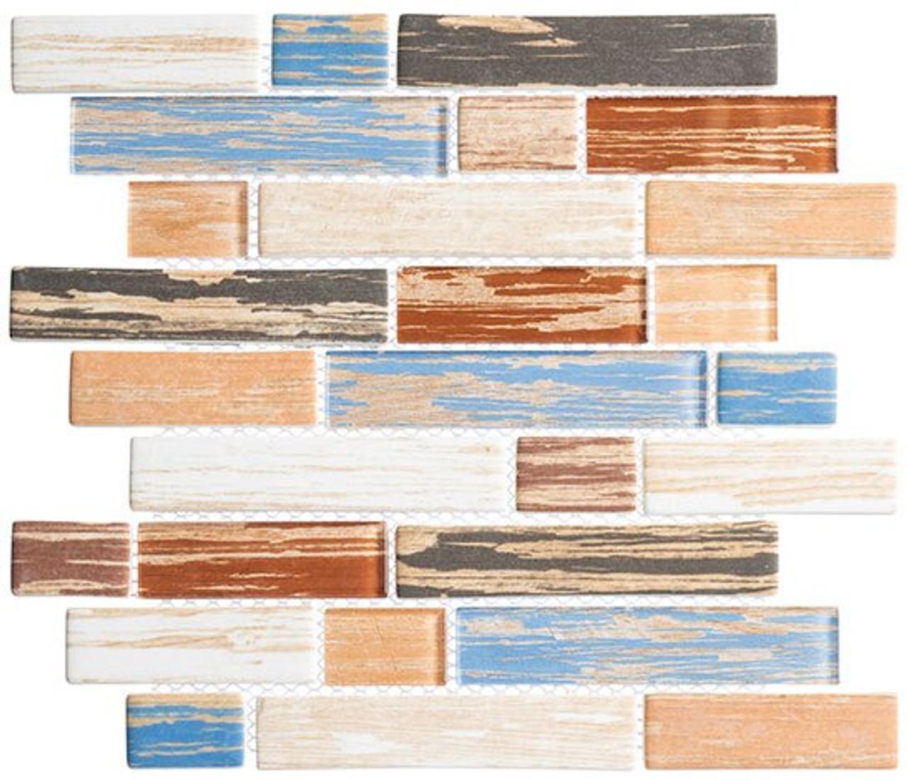 Bella Glass Tiles Textile Series Indigo Stonewash TXT-6413
