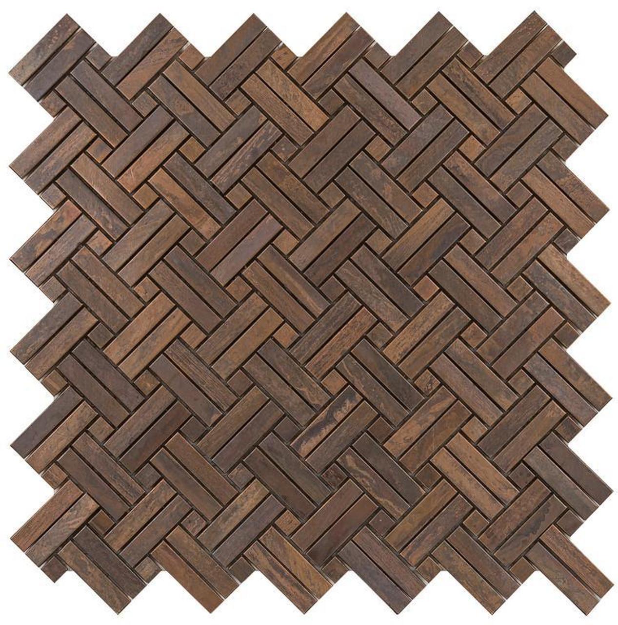 UBC Antique Copper Tile Backsplash 2By Mosaic