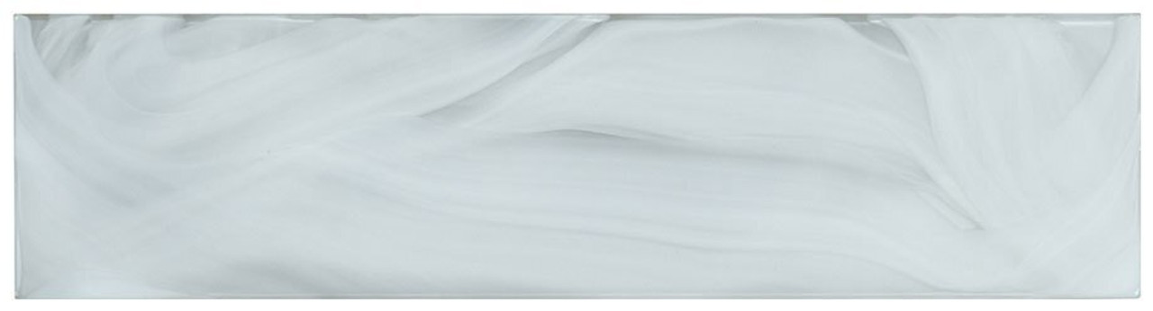 Bella Glass Tiles Elegant Swirl ELS635 Porcelain Cloud