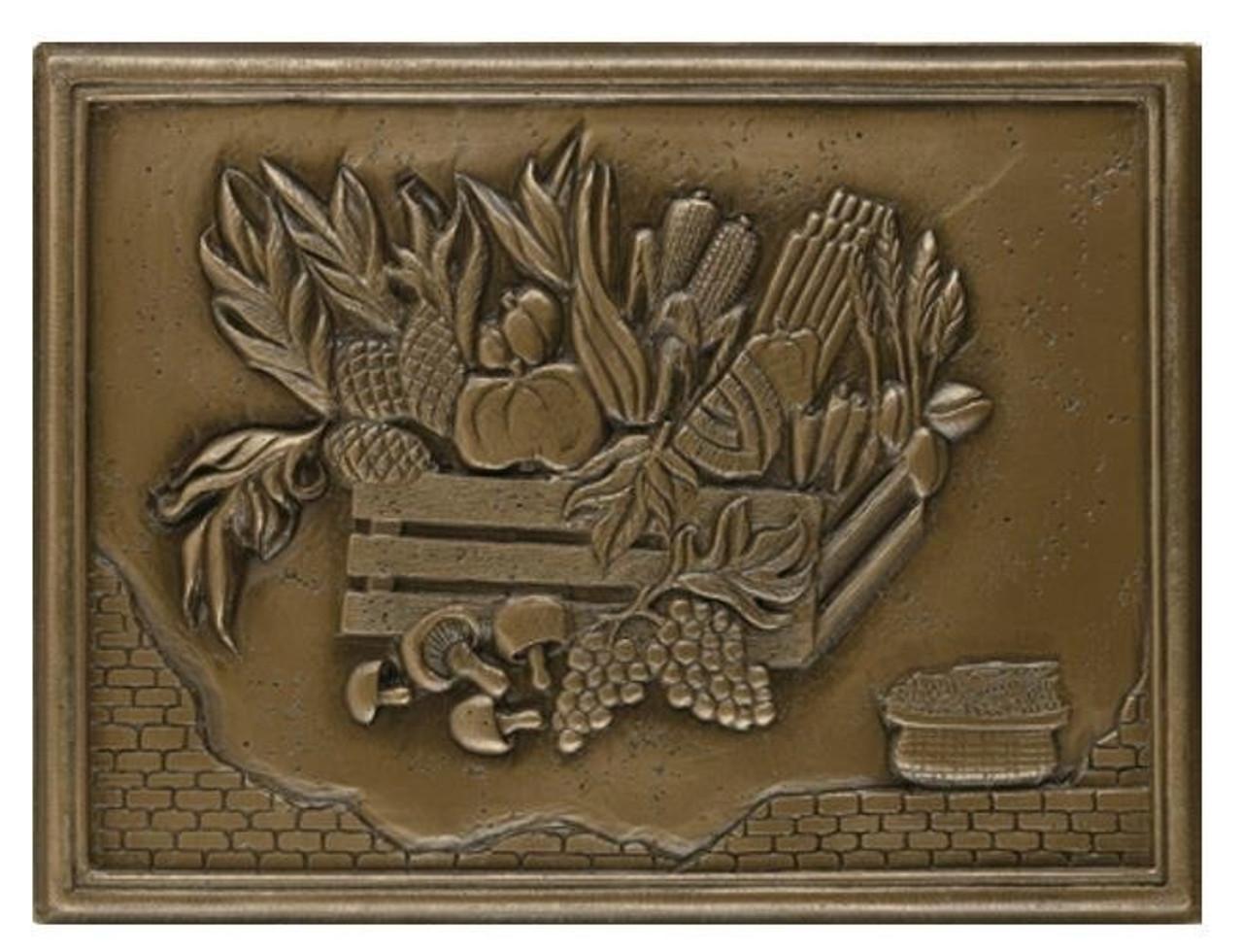 My Tile Backsplash Bronze Crops Plaque