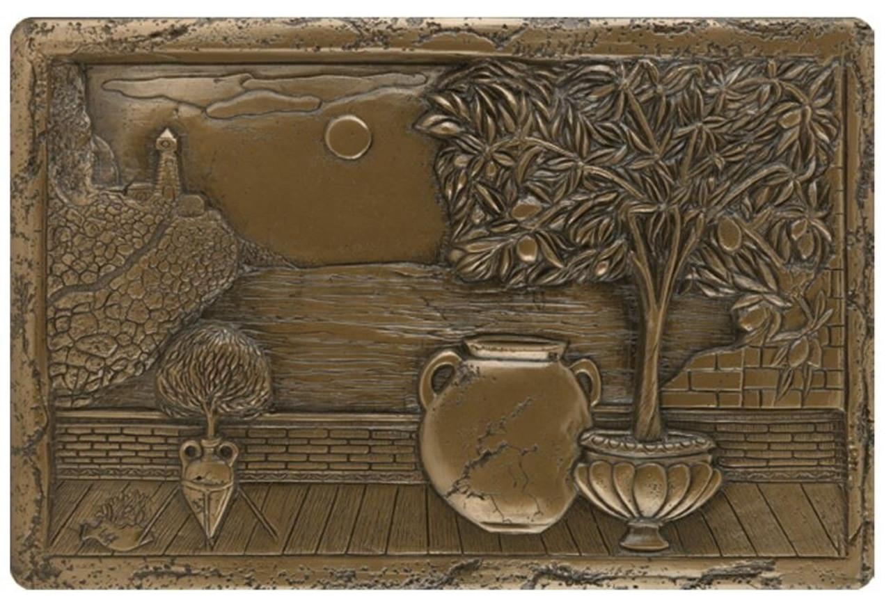 My Tile Backsplash Bronze Italian Scene Plaque