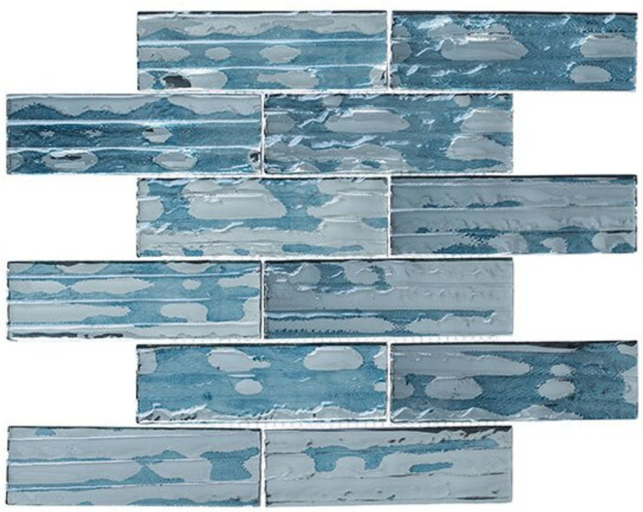 Bella Glass Tiles Droplettes Series Mirror Tile DRP980 Prussian Ice