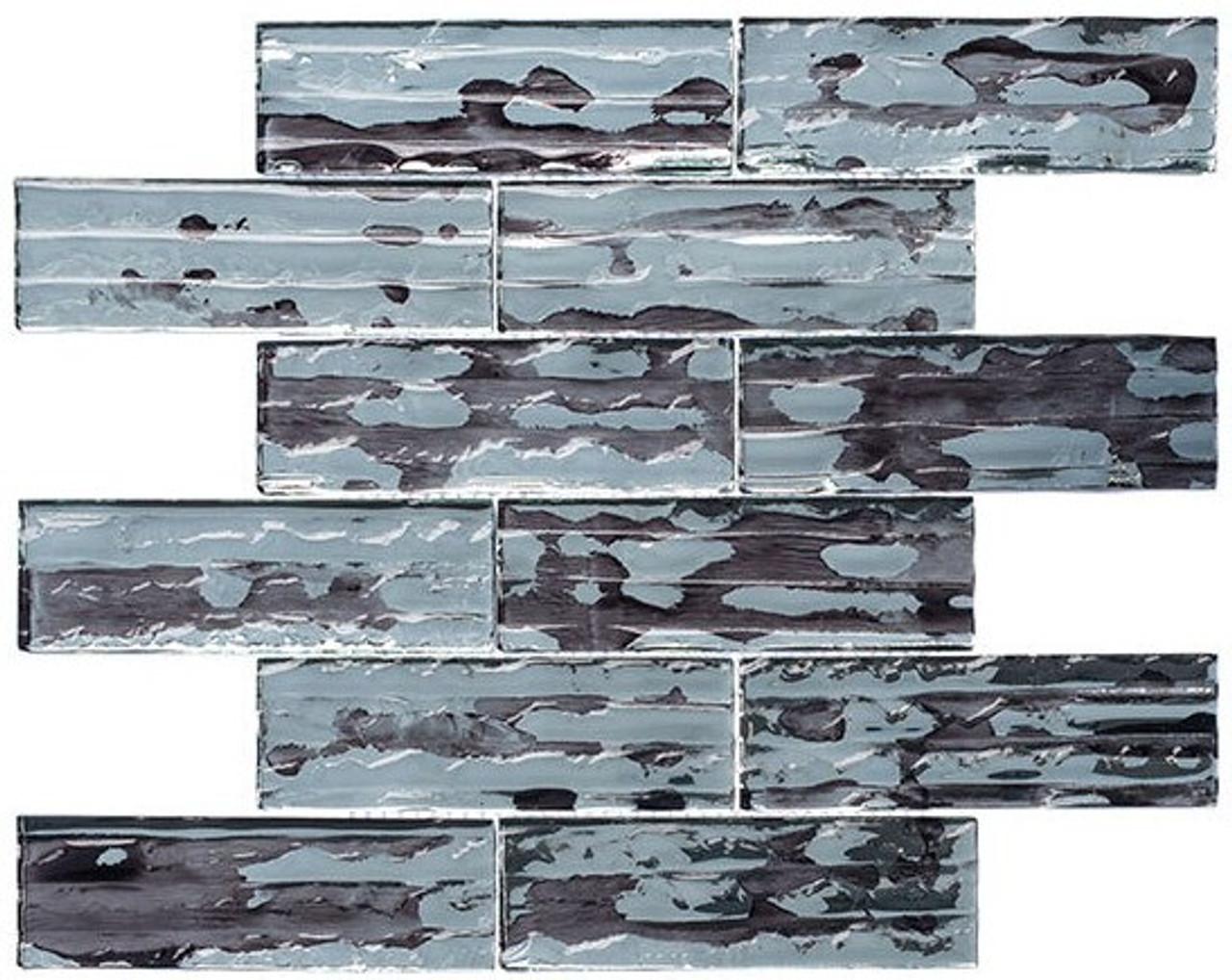 Bella Glass Tiles Droplettes Series Mirror Tile DRP981 Fog Shadow