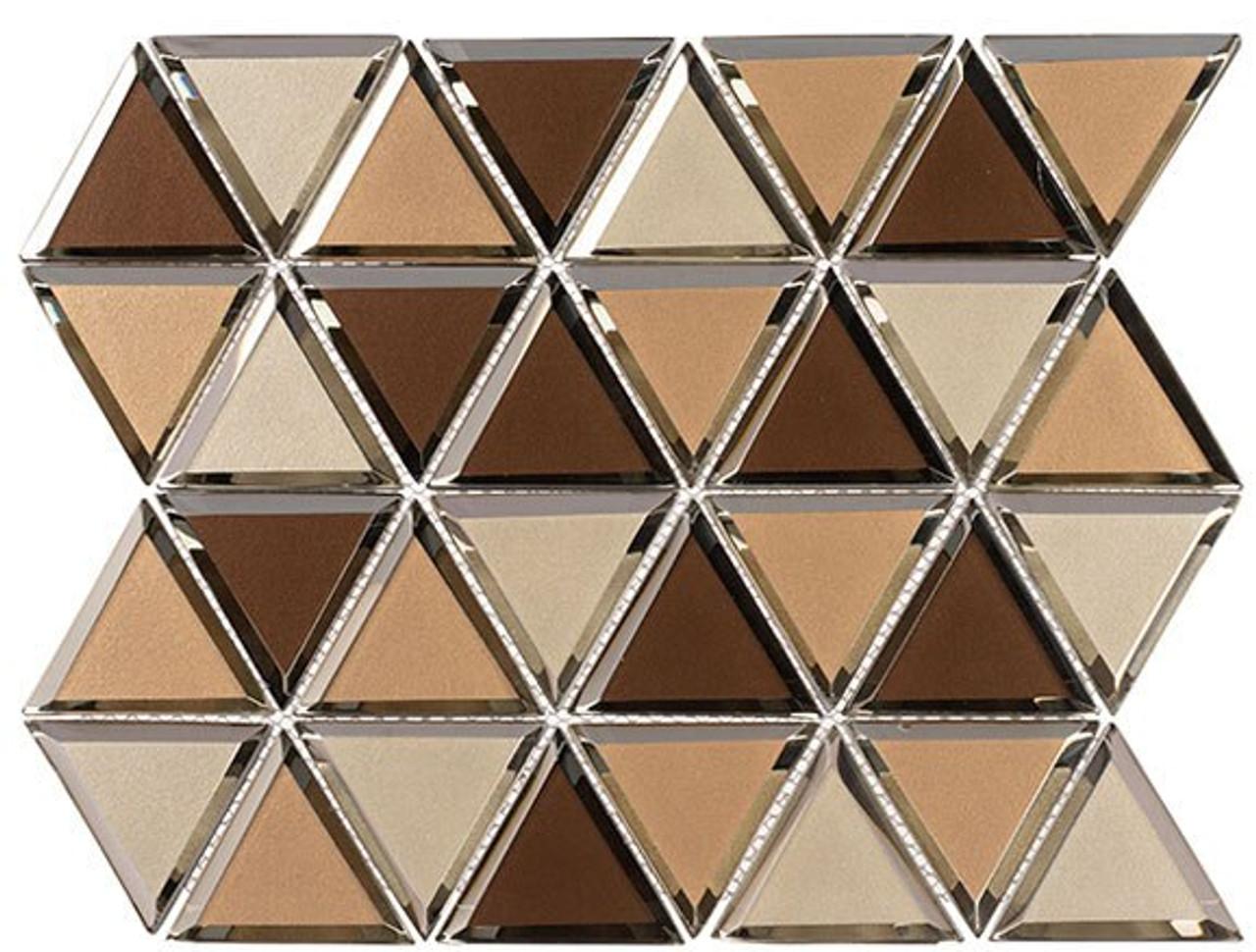 Bella Glass Tiles Pinwheel Series PWL817 Ginger Tail