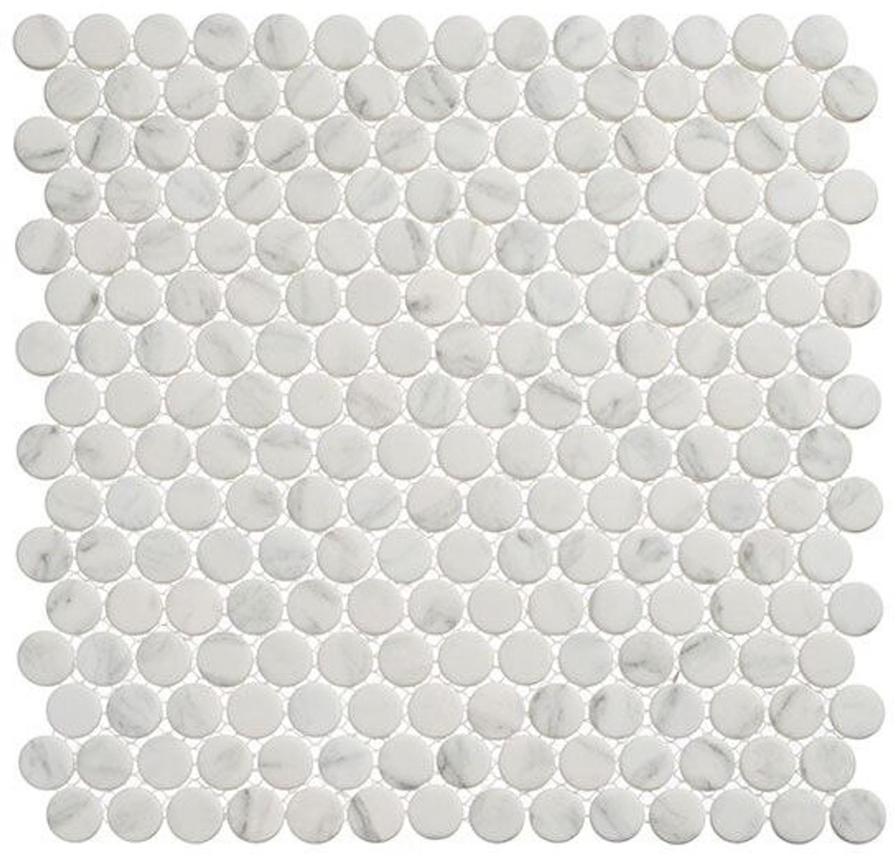 Bella Glass Tiles Polka Dots PLK61 Jasmine Delight