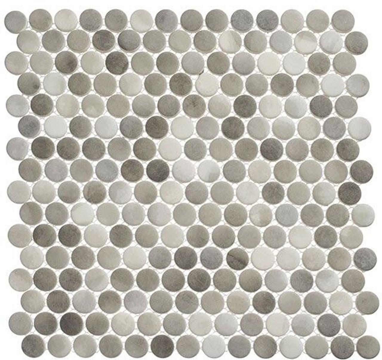 Bella Glass Tiles Polka Dots PLK64 Enlightened Sky