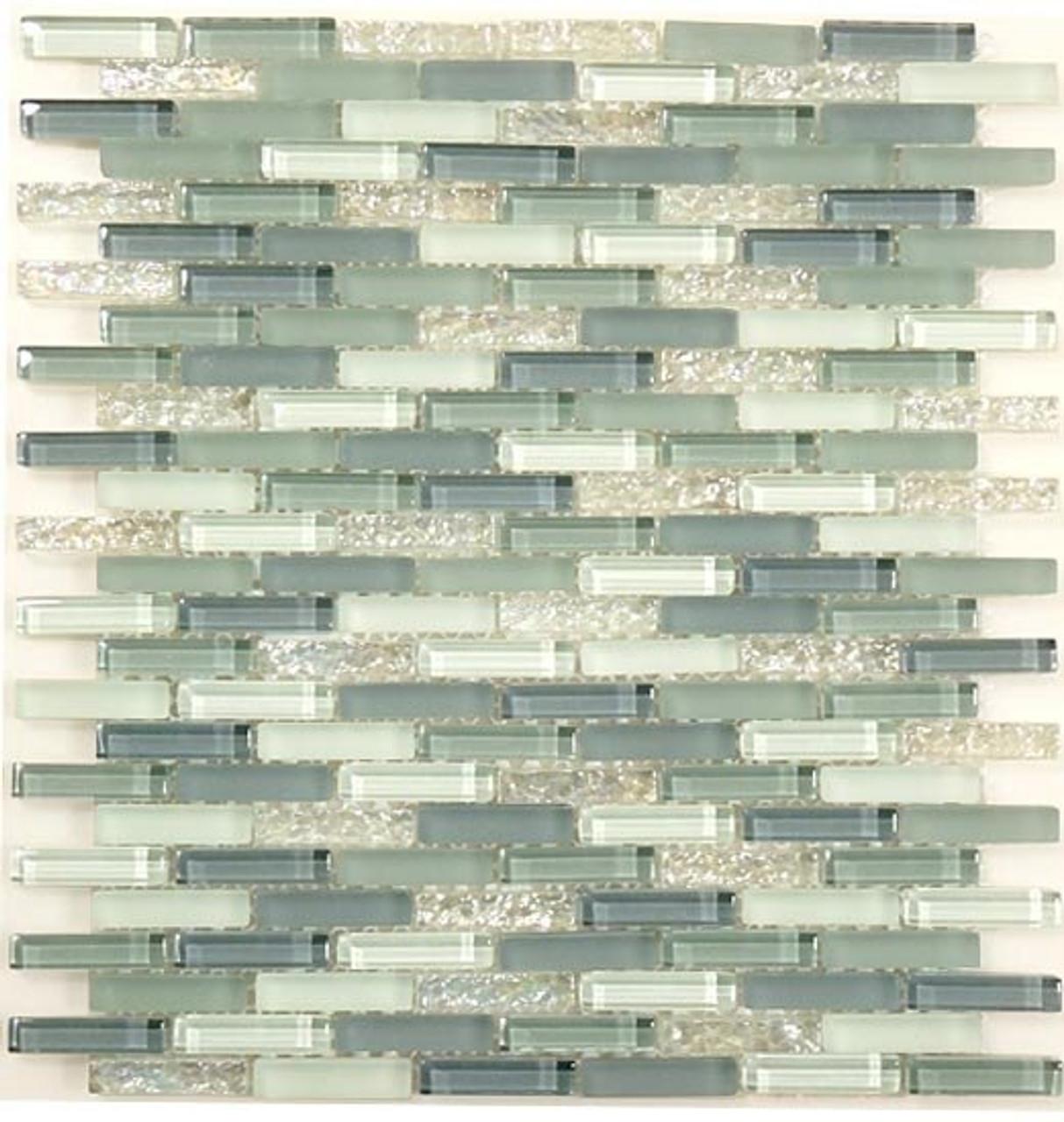Bella Glass Tiles Bella Glass Tiles Jewel Series J-601 Moonstone Glitter