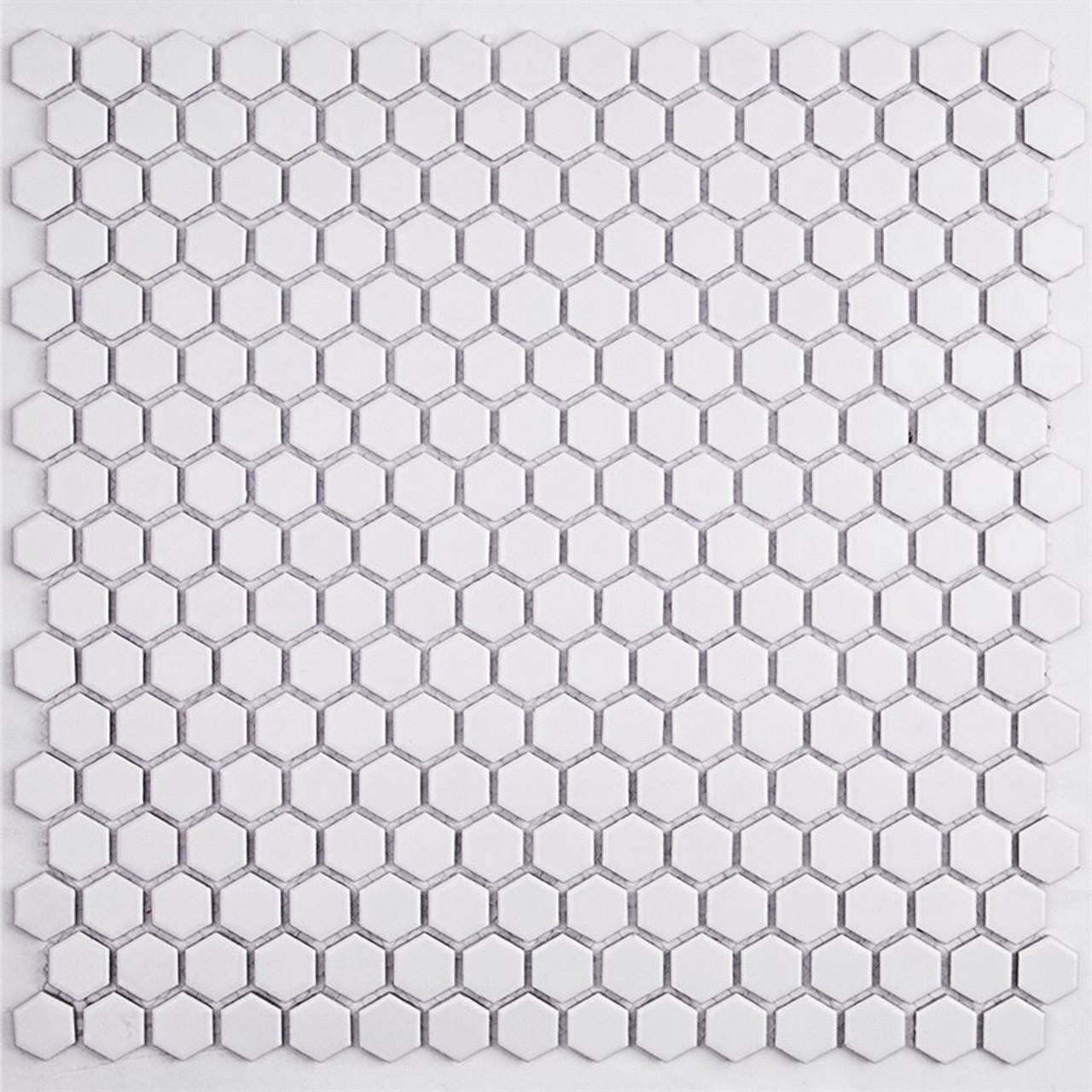 Soho Studio Simple Hexagon Solid White Matte