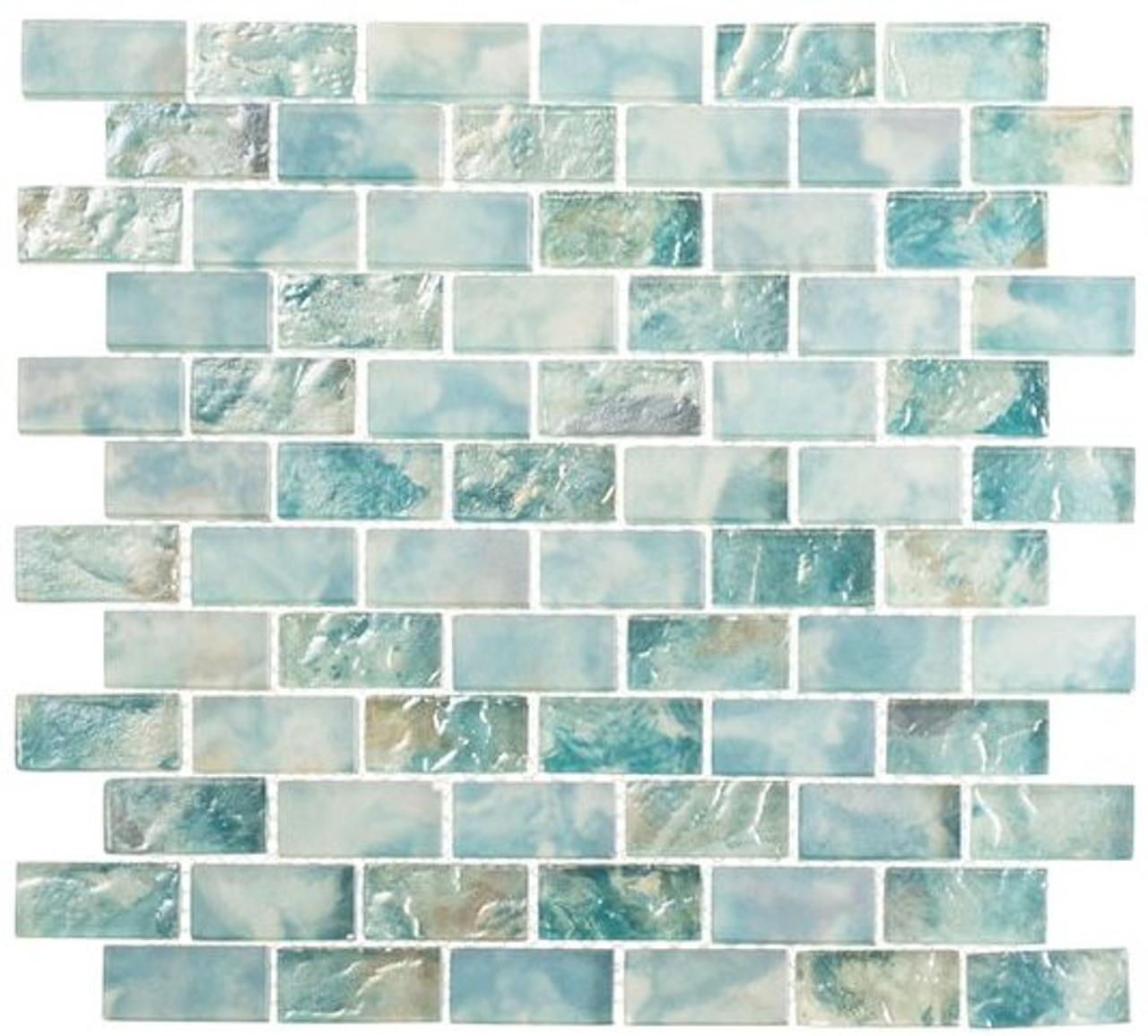 Bella Glass Tiles Mykonos Harbor Series Beach Day