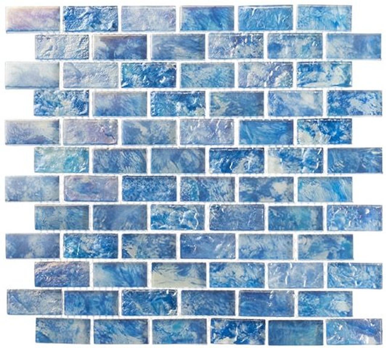 Bella Glass Tiles Mykonos Harbor Series Neon Waters