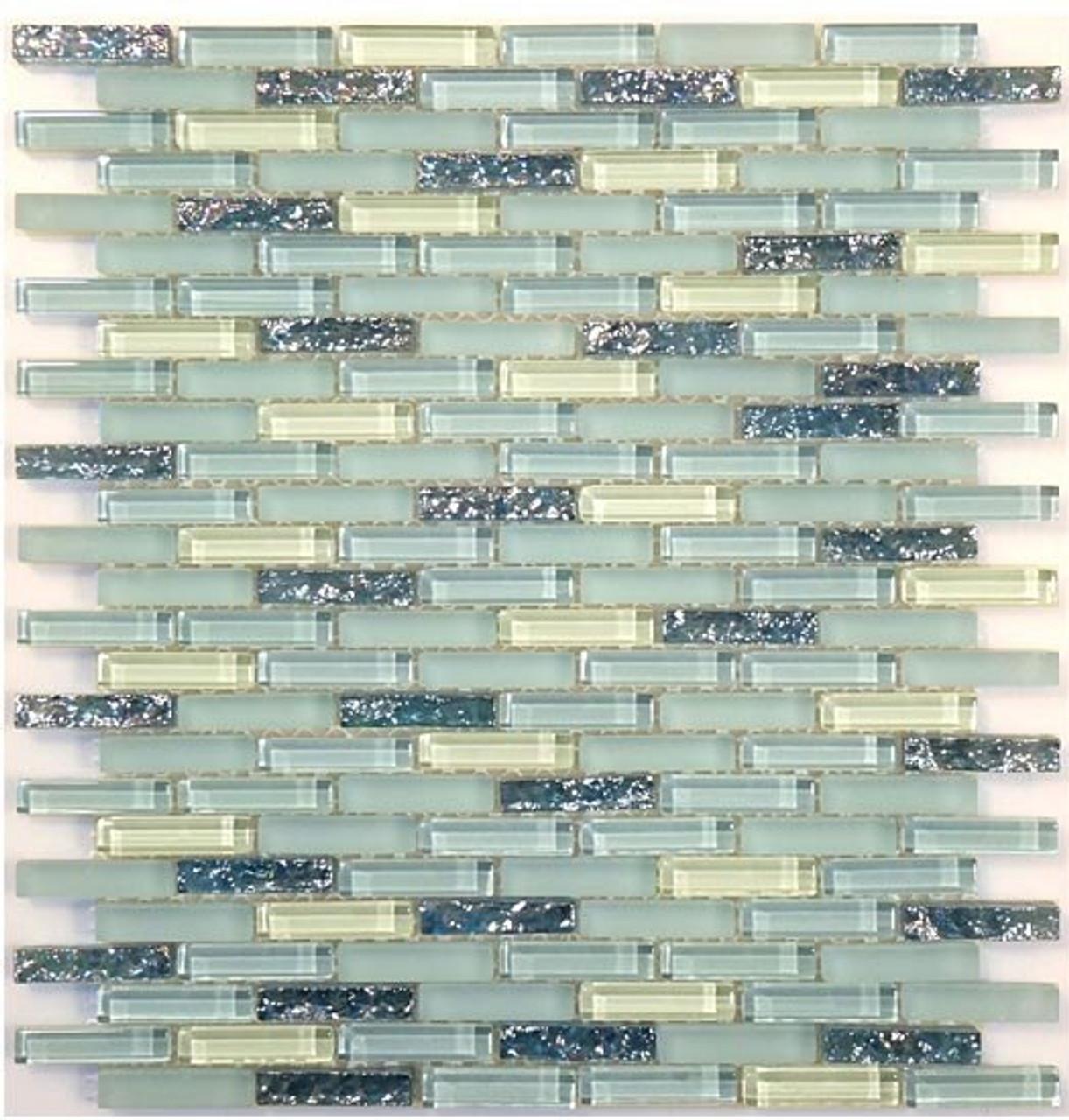 Bella Glass Tiles Bella Glass Tiles Jewel Series J-604 Aqua Marine