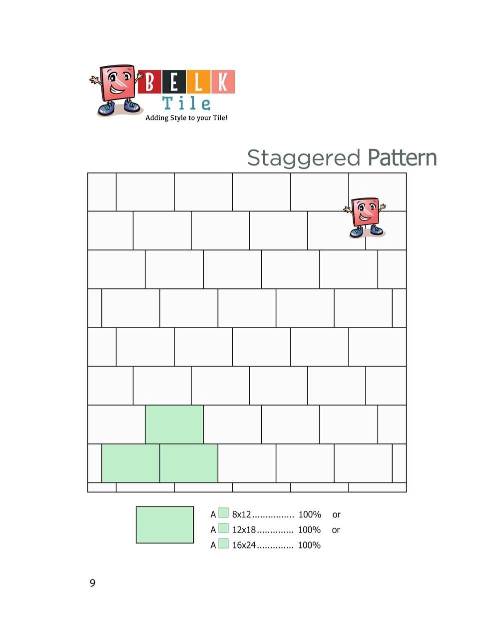 BELK Tile Patterns Staggered Joint Floor Tile Pattern
