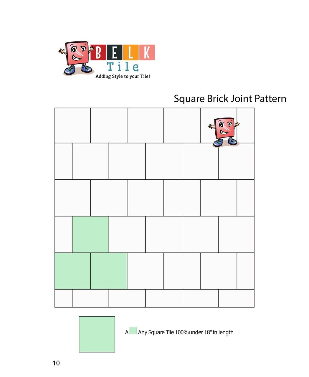 BELK Tile Patterns Square Brick Joint Floor Tile Pattern