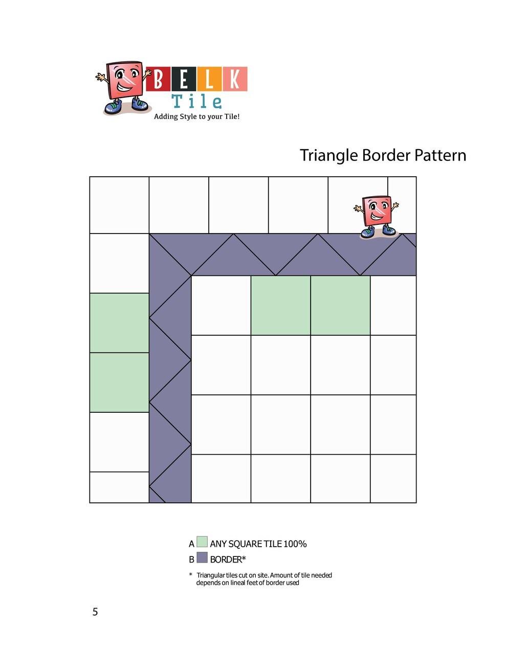 BELK Tile Patterns Triangle Border Floor Tile Pattern