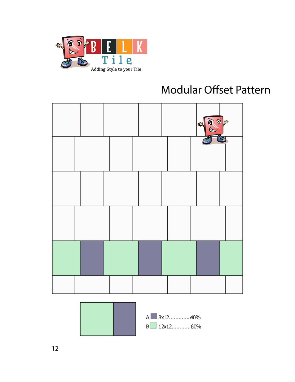 BELK Tile Patterns Modular Offset Floor Tile Pattern