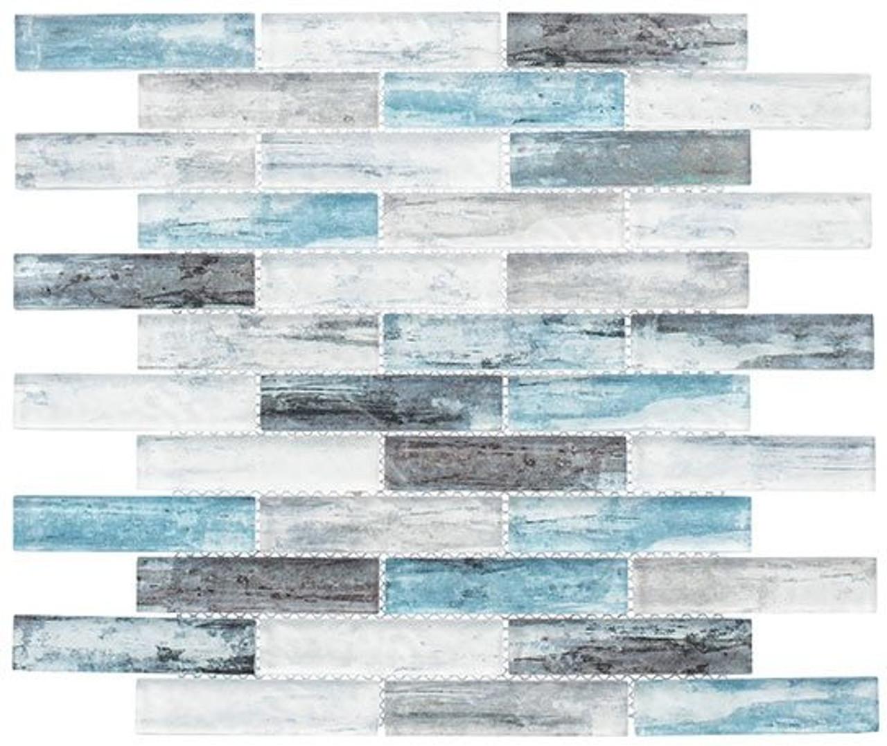 Bella Glass Tiles Metropolis Series MET762 Parker Blue