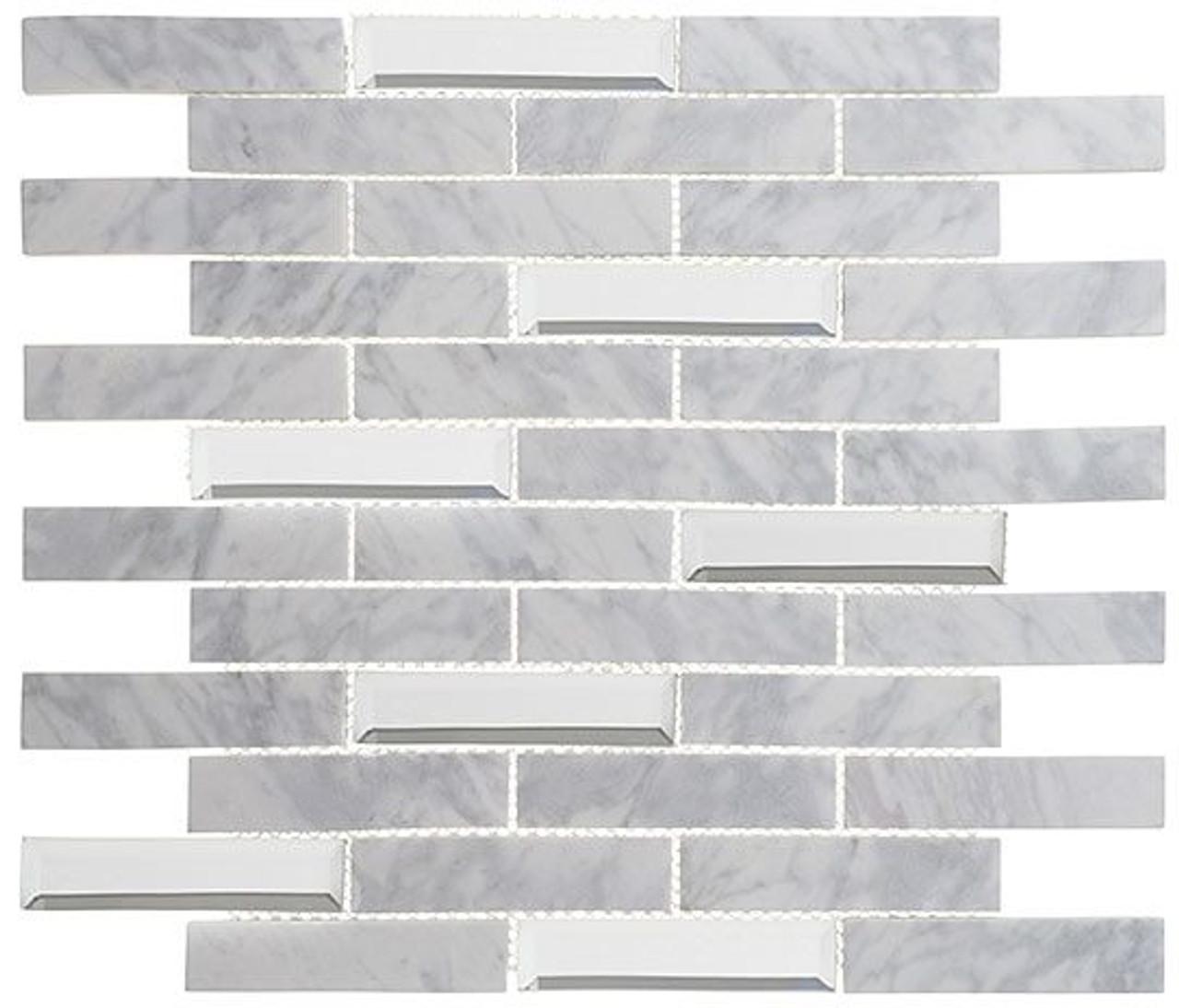 Bella Glass Tiles Beveled Castle Series BCA651 Whitecliff Hall