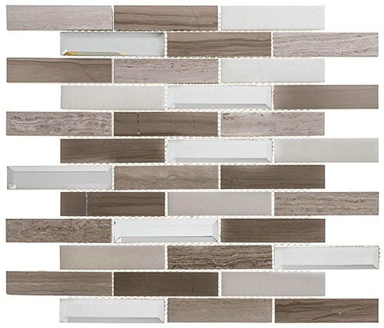 Bella Glass Tiles Beveled Castle Series BCA652 Buckingham