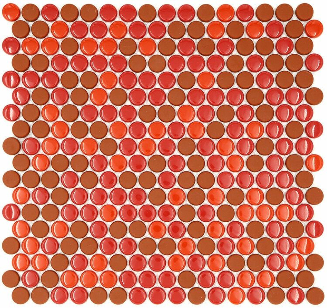 My Tile Backsplash Sicily Collection Series Penny round Wildfire