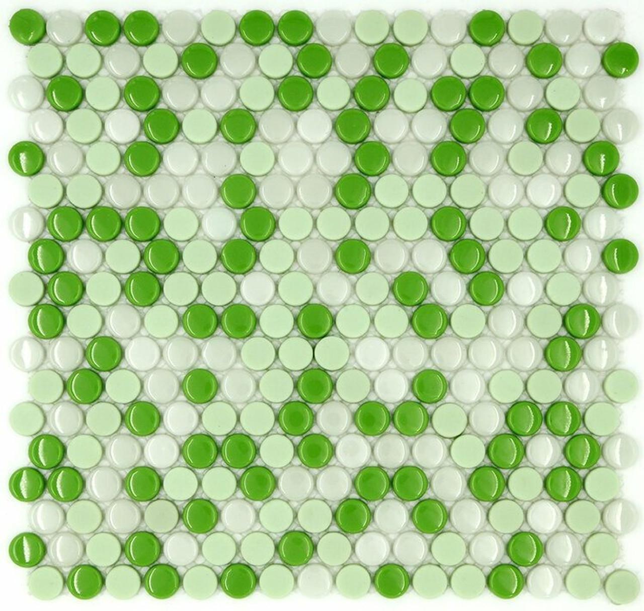My Tile Backsplash Sicily Collection Series Penny Round Snapdragon