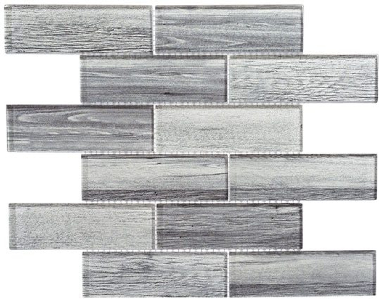 Bella Glass Tiles Westminster Series WM777 English Grey